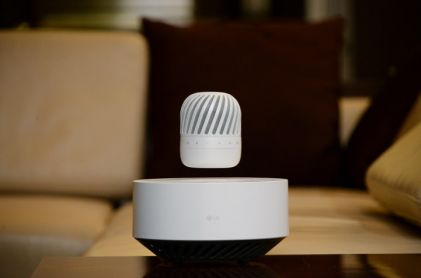 LG Electronics announced its futuristic Levitating Portable Speaker