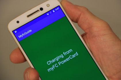 myFC Made Prototype Smartphone Charged by Integrated Fuel Cell
